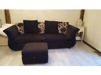 Joelle sofas and footstool