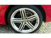 "19"" OEM Audi alloy wheels."