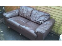 2 x matching 2 seaters leather