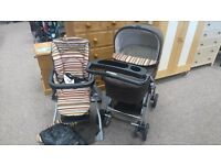 BRAND NEW MAMAS AND PAPAS PUSHCHAIR COMPLETE SET CARRYCOT STAND RAINCOVER