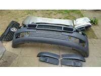 Vw transporter t5 bonnet, front bumper, headlights and grille