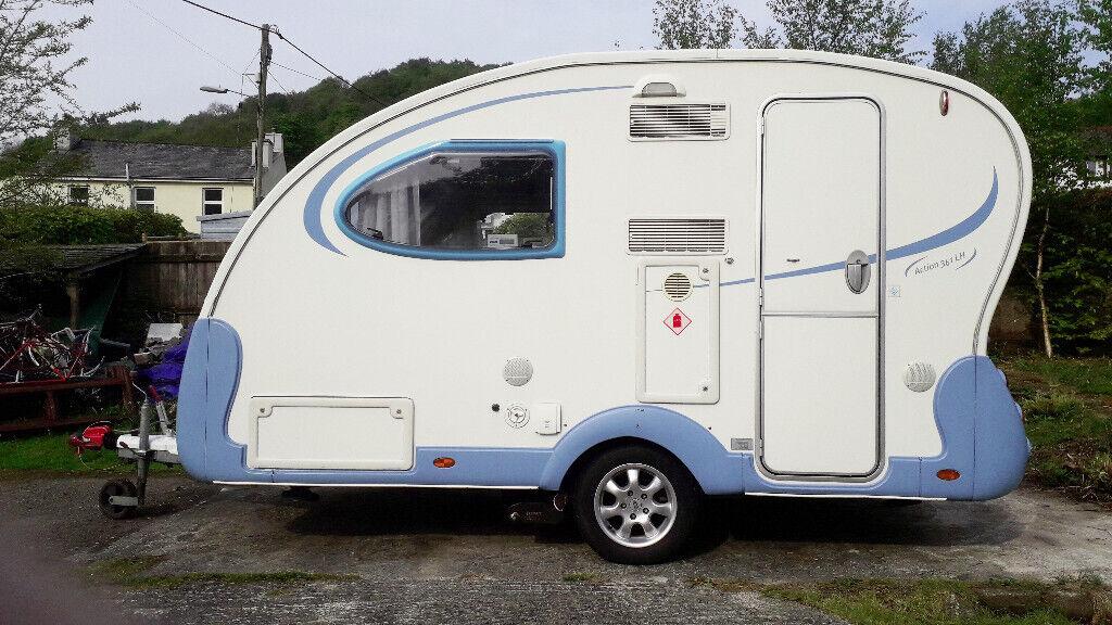 Adria Action 361LH Caravan  2007  Only 1000Kgs - easily towed  Rare UK  layout  3 sleeping options    in Gunnislake, Cornwall   Gumtree