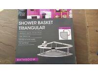 Stainless Steel Triangular Shower Basket