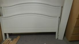 KING SIZE CREAM BED FRAME