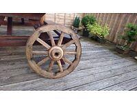 Original vintage antique old wooden cart / wagon wheel