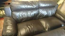 brown leather sofa 3 + 2 + 1 for sale