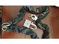 """Squire Sleeved Security Chain and Padlock - c48"""" long"""