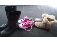 Girls boots and converse bundle size 1-1.5