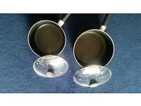 Sainsbury 20cm Aluminium Non Stick Pans With Glass Lids