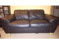 Black Faux leather sofas! check out this amazing offer