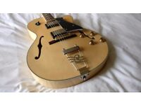 Cort Yorktown in Natural Blonde Finish - Electric Hollowbody Jazz Box Guitar