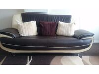 Contemporary Leather Sofa's £200 each