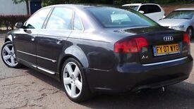2007 07 AUDI A4 2.0 S LINE 140 BHP AUTO DIESEL 103K FSH(CHEAPER PART EX WELCOME)