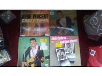 GENE VINCENT Shakin Up A Storm Crazy Times Best Of & Eddie Cochran Vinyl LP lot