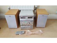 Sony MicroHi Fi Unit - CD, FM Radio & Twin Tape Deck plus aux for ipod etc