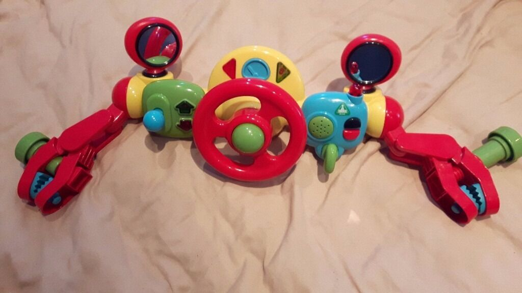 ELC Lights and Sounds Buggy Driver / Pram or Pushchair Steering Wheel - GREAT XMAS GIFT IDEA