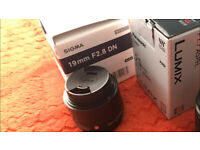 Sigma 19mm f2.8 Black for Sony E-Mount