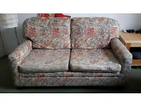 FREE Sofa bed double with a matching armchair and an ikea footstool