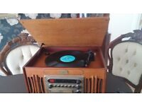 Record player and radio, CD, casette player