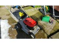 Honda HRB425c self propelled rotary petrol mower working order needs a bit of tlc