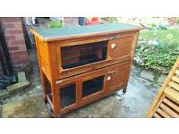 4ft double rabbit hutch