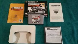 N64 F1 WORLD GRAND PRIX BOXED AND COMPLETE!
