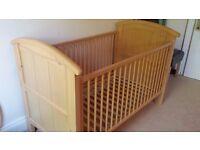 Cosatto Natural Oak Cot Bed - Excellent Condition