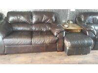 3+2 seat leather sofas