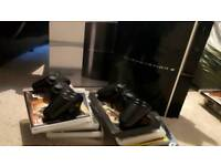 PS3 80Gb (with box), 2 controllers and 12 games