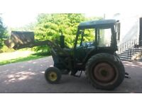 Ford 4600 with front loader
