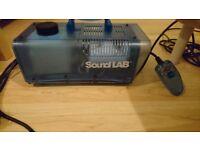 Sound Lab Smoke Machine, Small, Blue, Has Handle and Remote