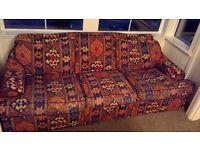 Bargain in good condition multicolour sofa