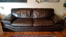 Very dark brown (almost black) Sofa in Good Condition