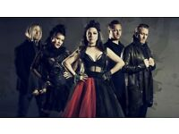 FOR SALE X2 PAIRS OF LAST REMAINING 'BLOCK C' TICKETS for EVANESCENCE 'SYNTHESIS' 3 APRIL NOTTINGHAM