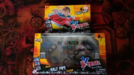 toy skate park and toy skate boards and accessories etc and extreme blaster gun with foam bullets