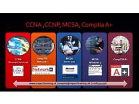 CCNA, MCSA Server, MCSA Windows 10 and CompTIA A+ Training