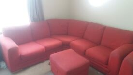 Red corner sofa bargain £225