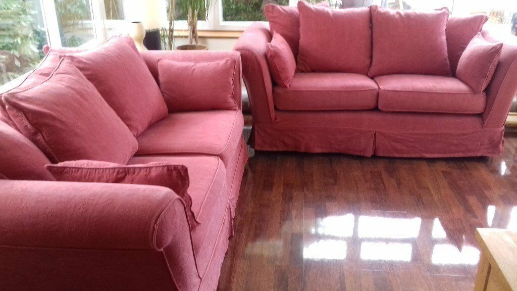 Two Red MultiYork Sofas, 2 and a half seaters, good condition with ...