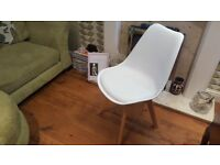 Vintage Retro Style Eames Inspired Eiffel style Chair Bedside Table Bedroom Dressing Table Chair