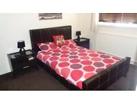 Leather Bed Frame & Mattress
