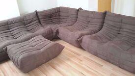 Microfibre Togo Sofa Set by Ligne Roset