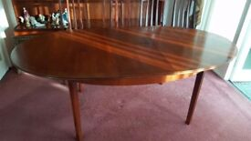William Lawrence Mahogany Extendable Dining Table 4 Chairs