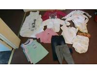 Bundle of baby girls clothes 12-2 yrs