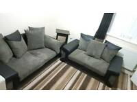 2 Soft fabric/leather sofas
