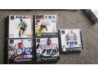 Fifa PlayStation 1 games bundle PS1 game FIFA 97, 98, 99, 00, 01