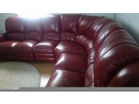 Real leather recliner corner sofa QUICK SALE NEAR M1