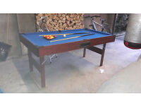 Pool table 6ft x 3 ft