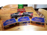 Callaway & Titleist Golf balls - 7 Boxes each contains 4 pks of 3 - New, unused still in Boxes