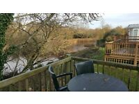 cheap double glazed holiday home right by the lake in Devon Bay Holiday park
