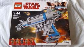 Lego Star Wars: The Last Jedi Resistance Bomber 75188 Age 9-14 Years NEW & SEALED RRP £99.95